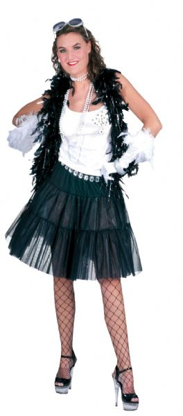 Ladies Petticoat Long Costume Peticoat Peti-Coat Slip Under Skiirt Fancy Dress